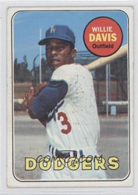 1969 Topps - [Base] #65 - Willie Davis [Good to VG‑EX]