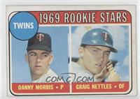Twins Rookie Stars (Danny Morris, Graig Nettles) (Error: Black Loop Above Twins)