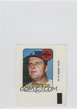 1969 Topps - Decals #DODR - Don Drysdale