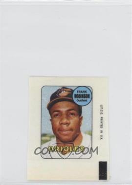 1969 Topps - Decals #FRRO - Frank Robinson