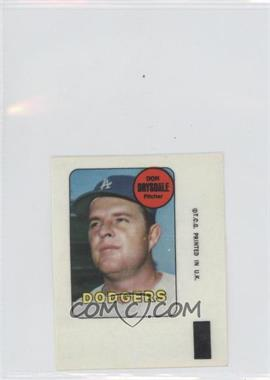 1969 Topps Decals #N/A - Don Drysdale