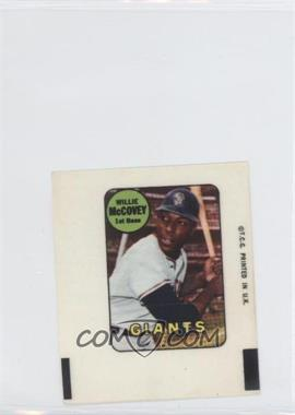 1969 Topps Decals #N/A - Willie McCovey