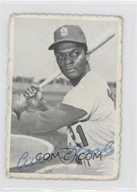 1969 Topps Deckle Edge #28 - Curt Flood
