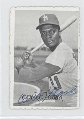 1969 Topps Deckle Edge #28 - Curt Flood