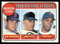 American League 1968 Batting Leaders (Carl Yastrzemski, Danny Cater, Tony Oliva…