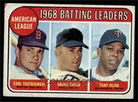 American League 1968 Batting Leaders (Carl Yastrzemski, Danny Cater, Tony Oliva…