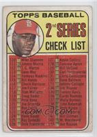 2nd Series Checklist (Bob Gibson) [Good to VG‑EX]