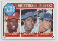 National League 1968 Strikeout Leaders (Bob Gibson, Fergie Jenkins, Bill Singer)