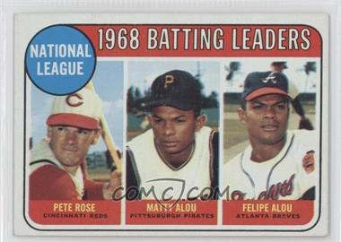 1969 Topps #2 - Pete Rose, Felipe Alou, Matty Alou