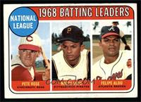 Pete Rose, Felipe Alou, Matty Alou [EX]