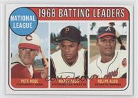 Pete Rose, Felipe Alou, Matty Alou