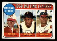 Pete Rose, Felipe Alou, Matty Alou [VG EX]