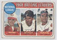 Pete Rose, Felipe Alou [Poor to Fair]