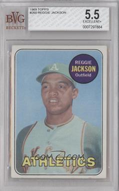 1969 Topps #260 - Reggie Jackson [BVG5.5]