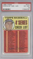4th Series Checklist (Don Drysdale) [PSA 6]