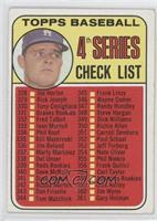 4th Series Checklist (Don Drysdale)