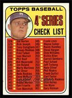 4th Series Checklist (Don Drysdale) [EXMT]
