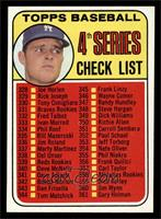 4th Series Checklist (Don Drysdale) [NM]