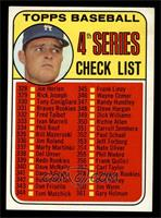 4th Series Checklist (Don Drysdale) [EX MT]