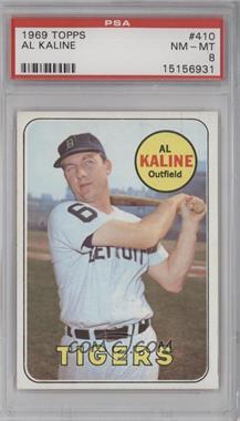 1969 Topps #410 - Al Kaline [PSA8]
