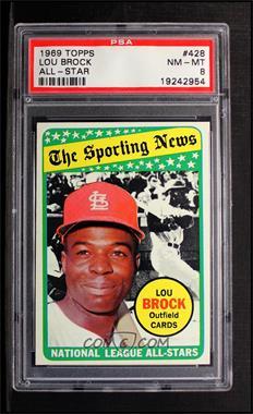 1969 Topps #428 - Lou Brock [PSA8]