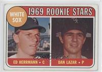White Sox Rookie Stars (Ed Herrmann, Dan Lazar) [GoodtoVG‑EX]