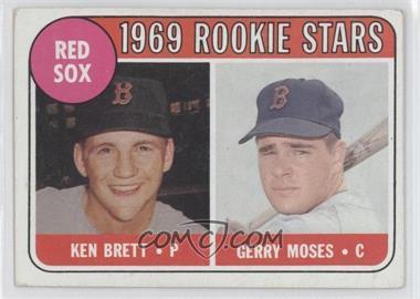 1969 Topps #476.2 - Ken Brett, Gerry Moses (names in white)