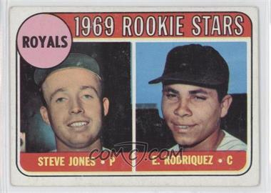 1969 Topps #49 - Steve Jones, Ellie Rodriguez