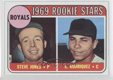 1969 Topps #49.1 - Steve Jones, Ellie Rodriguez (Rodriquez error)