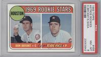 Astros Rookie Stars (Don Bryant, Steve Shea) [PSA8]