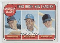 American League Home Run Leaders (Frank Howard, Willie Horton, Ken Harrelson)
