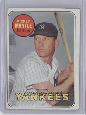 1969 Topps #500.1 - Mickey Mantle (Last Name in Yellow) [Good to VG‑EX]