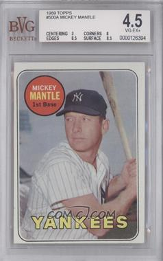 1969 Topps #500.1 - Mickey Mantle (Last Name in Yellow) [BVG 4.5]