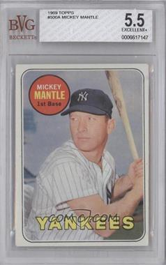 1969 Topps #500.1 - Mickey Mantle (Last Name in Yellow) [BVG 5.5]