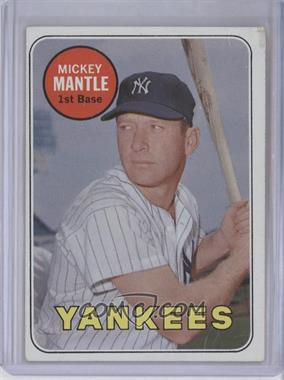 1969 Topps #500.1 - Mickey Mantle (White Letters) [Good to VG‑EX]