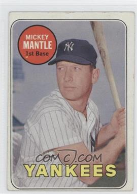 1969 Topps #500.2 - Mickey Mantle (Last Name in White) [Good to VG‑EX]