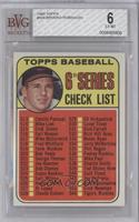 6th Series Checklist (Brooks Robinson) [BVG 6]