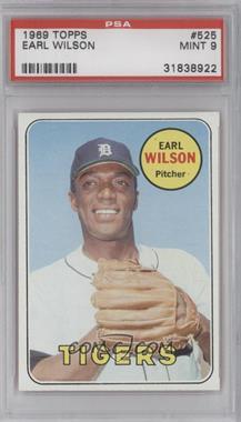 1969 Topps #525 - Earl Wilson [PSA9]