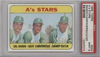 A's Stars (Sal Bando, Bert Campaneris, Danny Cater) [PSA9]