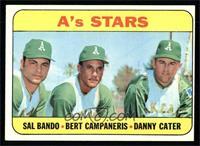 A's Stars (Sal Bando, Bert Campaneris, Danny Cater) [EX]