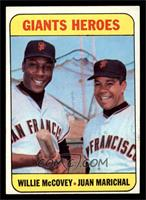 Willie McCovey, Juan Marichal [EX MT]