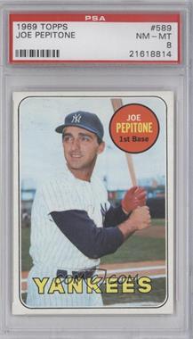 1969 Topps #589 - Joe Pepitone [PSA8]