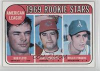 American League 1969 Rookie Stars (Bobby Floyd, Larry Burchart, Rollie Fingers)