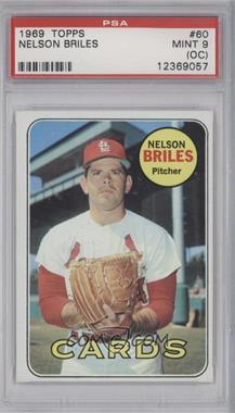 1969 Topps #60 - Nelson Briles [PSA9(OC)]