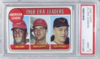 Luis Tiant, Sam McDowell, Dave McNally [PSA 9]