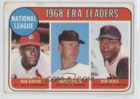 ERA Leaders (Bob Gibson, Bobby Bolin, Bob Veale) [Good to VG‑EX]