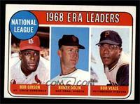 ERA Leaders (Bob Gibson, Bobby Bolin, Bob Veale) [EX]
