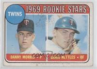 Twins Rookie Stars (Danny Morris, Graig Nettles) (Correct No Loop) [Goodt…