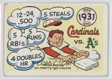 1970 Fleer Laughlin World Series #28 - 1931 World Series Cardinals vs A's [Good to VG‑EX]