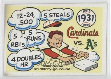 1970 Fleer Laughlin World Series #28 - [Missing] [Good to VG‑EX]